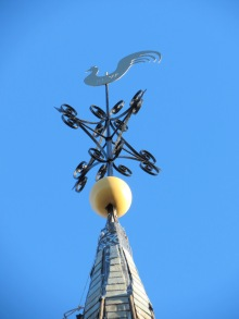 St. George's new weathercock - erected Nov. 20, 2013