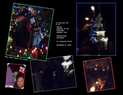 tree lighting collage