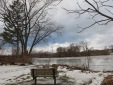 scene looking west from the west end of Riverside Park along the Mohawk River at Schenectady NY about 9 am on 12Jan2014