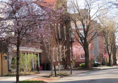 1 Union St. seen from Washington Ave. in the Schenectady NY Stockade - 28Apr2014