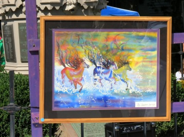painting by Sandra Garlick, Best First-Time Exhibitor - 2014 Stockade Outdoor Artshow