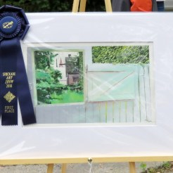 Grand Prize -- Blue Ribbon -- for painting by Holly Van Voast