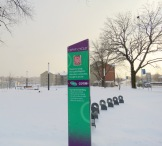 Bike share station at Liberty Park