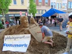 Phil Singer sand sculptor