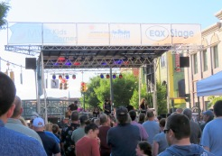 Midnight Revival Band on the EQX stage