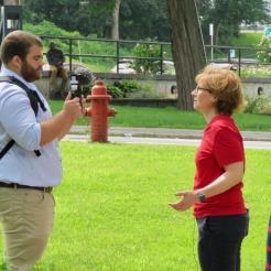 Michelle Ostrelich meets the press